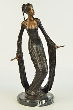 Art Deco Juliet Erte Fashion Actress Home Decor Bronze Sculpture