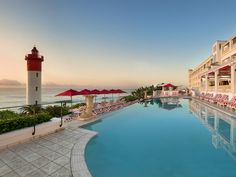 The Oyster Box is an award-winning luxury boutique hotel and spa and member of Leading Hotels of the World in Umhlanga, KwaZulu-Natal, South Africa. Most Luxurious Hotels, Best Hotels, Luxury Hotels, Seaside Restaurant, Leading Hotels, Kwazulu Natal, Hotel Stay, Luxury Accommodation, Resort Spa
