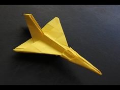 How to make a cool paper plane origami: instruction| F106 - YouTube