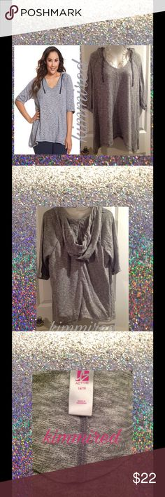 Plus LaNe BRYaNT Active Hooded Shirt ~ 14/16 NWOT Necklace is ❌NOT❌included‼️  🚫🚭 No smoking 🚫🚭 🚫🐶🐱 No pets 🚫🐶🐱  Very cute and in excellent brand new without tags condition. It has been washed but never worn. Was trying to see if it's shrink for my daughter. It didn't. It was too big for her. ***We also haves lack one that's new without tags too that's listed already (though it has not been washed). Lane Bryant Tops Sweatshirts & Hoodies