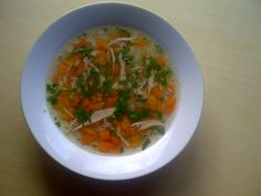 Chicken soup - Taste of Harmony This is my favorite soup with extraordinary taste and scent.  chicken legs, carots, parsley white and green, celery, onion, maggi cub, vermicelli.