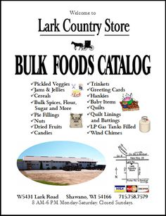 Welcome to Lark Country Store. Shawano, Wisconsin. - Bulk Foods Store