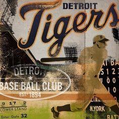 Detroit Tigers baseball illustration graphic by geministudio ~ I want this so bad
