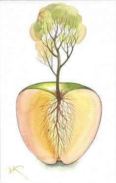 Vladimir Kush - above-and-bellow [885]  watercolor