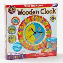 Paint your own Wooden Clock