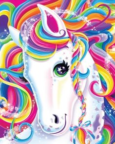 Lisa Frank Art -- We're sorry, but let's be real. but no one rivals the transcendence of the great Lisa Frank. Learn to paint and live as colorfully as our favorite childhood cartoonist. Unicorn Horse, Unicorn Art, Rainbow Unicorn, Magical Unicorn, Unicorn Poster, Unicorn Painting, Rainbow Hair, Lisa Frank Unicorn, Whatsapp Pink