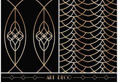 Free Art Deco Geometric Vector Patterns