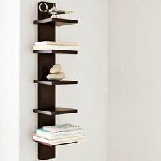 Narrow wall-mounted shelves from West Elm, $79.00