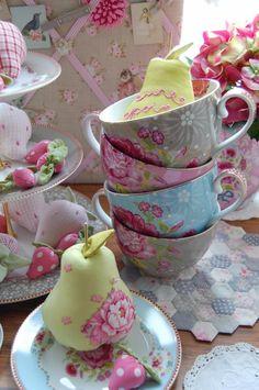 Color By Melissa Tea Cup Saucer, Tea Cups, Bowls, Pip Studio, Rose Cottage, Vintage Tea, Vintage Pyrex, Chocolate Pots, China Dinnerware
