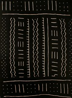 A bogolanfini textile, commonly known as mud cloth, from Mali.
