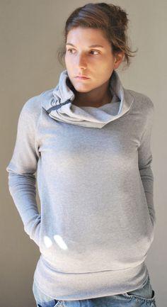 ON SALE 15 off Grey Sweatshirt SUN Women por kupukupuapparel