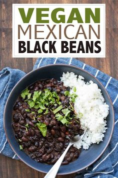 Mexican food recipes 522980575481089182 - Learn how to make black beans with this incredible Mexican dried black beans recipe! It's simple, loaded with flavor and a family favorite! Source by veggiesdontbite Black Bean Recipes, Vegan Mexican Recipes, Vegetarian Recipes, Cooking Recipes, Healthy Recipes, Black Beans Recipe Easy, Mexican Desserts, Vegan Meals, Healthy Dinners