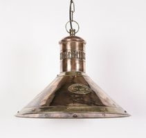 Deck Solid Copper and Brass 1 Light Pendant