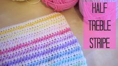 CROCHET: Half Treble crochet Stripe (Half double US) | Bella Coco