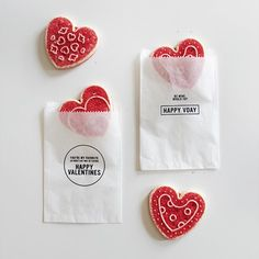 Make your valentines feel special with these simple printable treat bags -fill them with goodies and you're all done!