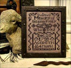 Susanna Folley Tombstone Angel - Contemporary Cross Stitch Pattern