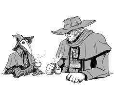 Bloodborne: Eileen and Gascoigne coffee by MenasLG on DeviantArt