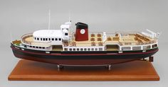 """A recently completed 24"""" English Passenger Ferry Boat Model"""