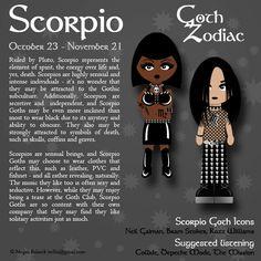 Goth Zodiac: Scorpio by Trellia.deviantart.com on @DeviantArt