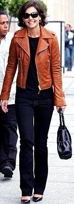 Outfit Posts: outfit post: black tank, cognac faux leather jacket, jeans