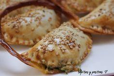 Tapitas y Postres: Cestitas de espinacas y queso de cabra.