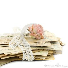 Stack of old love letters
