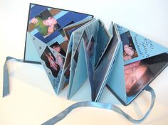 I made a book like this for class- I love the idea of a mini scrapbook!