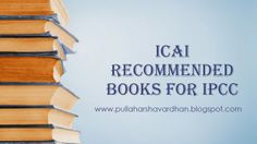 ICAI Recommended books for IPCC