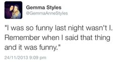 haha gemma tweeting about harry. def something hed say!