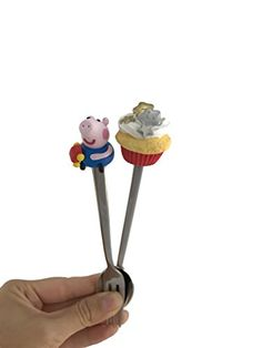 DETAILS – Designer teaspoon and fork would be a nice present for baby, brother, sister or best friend. Unusual teaspoon have of metal basis (stainless steel made in Germany). The product is decorated unique of decoration clay. This decorative element is made has been molded of the polymer... see more details at https://bestselleroutlets.com/home-kitchen/kitchen-dining/cookware/product-review-for-spoon-and-fork-peppa-pig-cake-gold-stars-art-spoon-and-fork-set-handle-made