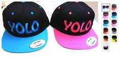 Vintage YOLO (You Only Live Once) Snapback Hat Flat Bill Cap