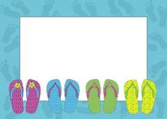 flip flop invitation template | Use these free images for your websites, art projects, reports, and ...