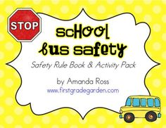 The second theme topic I cover in October is Safety. We talk about playground safety, bus safety, and fire safety! I use activities from my Interactive Health Journal, my School Bus Safety Unit, and m School Bus Driving, School Bus Safety, School Social Work, Beginning Of School, New School Year, I School, School Worksheets, Worksheets For Kids, Safety Week