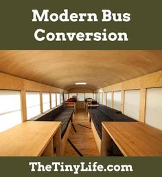 An architecture student works his creative magic on an old school bus.