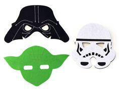 Star Wars masks, yoda, darth vader, storm trooper, costume, kids clothes, cosplay, birthday, christmas, dress up, present, unique gift, mask