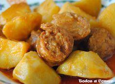 Receta: patatas a la riojana o guiso de patatas con chorizo