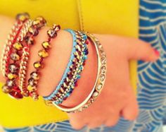 Arm party with fresh cool colors for a Memorial Day Party