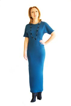 Blue Maxi Dress by Helleny on Etsy