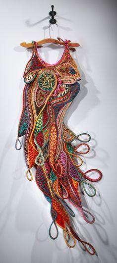 "Peggy Wiedemann ~ ""Ballgown For A Mermaid"" via peggywiedemann.com *Fiber artist"
