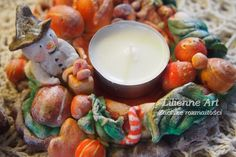 świecznik z masy solnej salt doug candle holder