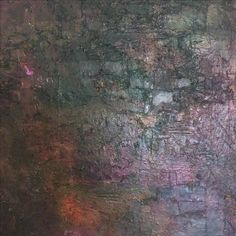 """Lynda Bleyberg 'Beyond Black' Detail. For Sale £450. Mixed media on box canvas 20"""" by 20""""."""