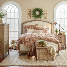 Features:  -Dust with a clean, dry cloth.  -Can be used with an adjustable mattress.  -Construction of solid oak and veneers.  Distressed: -Yes.  Frame Material: -Wood.  Headboard Included: -Yes.  Foo