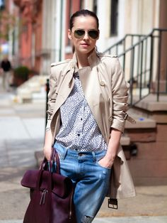 in the nude TRENCH COAT - love the shirt
