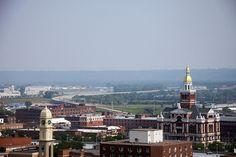 Dubuque, Iowa, the closest big town - an hour away