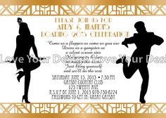 Great Gatsby Party Roaring 20's Birthday by LoveYourDesign on Etsy, $15.00
