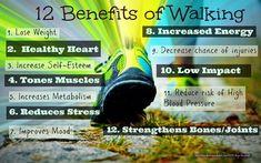 12 benefits of walking #health Health Benefits, Health Tips, Health And Wellness, Health Walk, Mental Health, Health Fitness, Health Exercise, Fitness Tips, Exercise Benefits