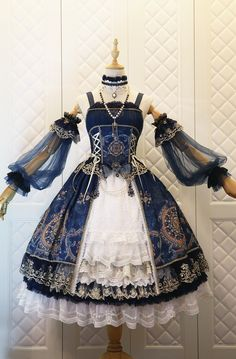 Fashion Vintage The Nine Songs -Crown of The Sea- Vintage Classic Lolita Jumper Dress - Source by corhao fashion dresses Pretty Outfits, Pretty Dresses, Beautiful Outfits, Cute Outfits, Emo Outfits, Dress Outfits, Cosplay Dress, Cosplay Outfits, Roxy
