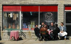 23. The Symbolism of Food Portrayed in Three Popular American TV Series: The Coffee Shop - Sopranos.Satriale's Pork Store Meat Market is one of the locations Tony Soprano and his cronies meet up for coffee and to discuss crime.
