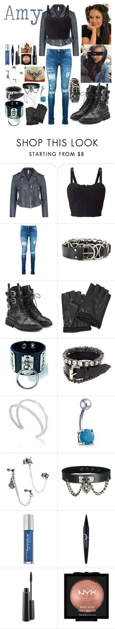 """Amy's Original Look"" by keih95 ❤ liked on Polyvore featuring HIGH, Miss Selfridge, Boohoo, McQ by Alexander McQueen, Giuseppe Zanotti, Karl Lagerfeld, Club Exx, Edge of Ember, Bling Jewelry and Urban Decay"