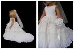 American Girl Doll Clothes Princess Wedding Gown by SewSoNancy